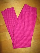 Lularoe Women's Leggings One Size OS Pink Floral Geometric Pattern