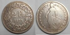 SWITZERLAND 2 Francs 1874 AG