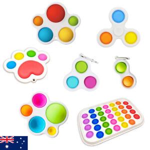 Large Pop Simple Dimple Pop it Bubble Key Chain Stress Relief Sensory Toys