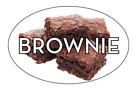 """Brownie Labels 500 per Roll Food Merchandise Store Stickers 1.25"""" x 2"""""""