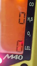 Industrial Scientific M40 gas Monitor   H2S.  LEL