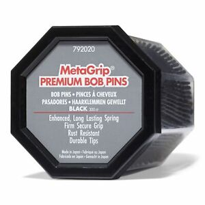MetaGrip Black Premium Bobby Pins