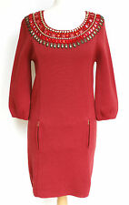 Embellie rouge Manoush bell manches robe de laine s
