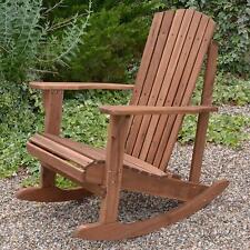 Garden Rocking Chair Hardwood Acacia Adirondack Wooden Rocker Furniture