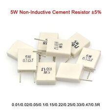 5W Non-Inductive Cement Resistor Values of 0.01Ohm-0.5Ohm ±5% Ceramic Resistor