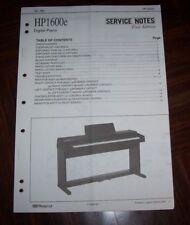 ROLAND HP-1600 Original Service Notes Manual Repair Serviceanleitung HP-1600e