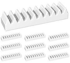 LEGO Technic NEW 10 pcs WHITE GEAR RACK 1x4 Robot linear track Part Piece 3743