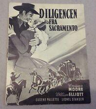 """In Old Sacramento"" William Elliot Moore Old Danish Vtg Original Movie Program"