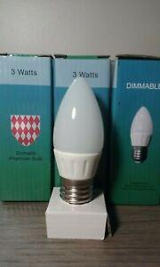Grimaldi LED 3W 260 Lumens Candle Bulbs 2700K Warm White E26 Standard Base