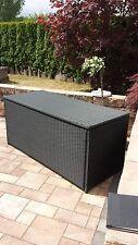 Auflagenbox XXL schwarz A2 160cm  Rattan Polyrattan  Kissenbox Aluminium