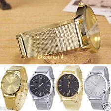 Fashion Women Watch Analog Gold Stainless Steel Mesh Band Lady Dress Wrist Watch