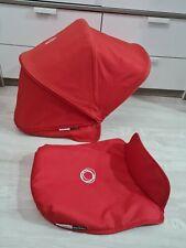 Bugaboo Donkey Donkey2 Donkey3 Red extandable hood / Sun canopy and apron