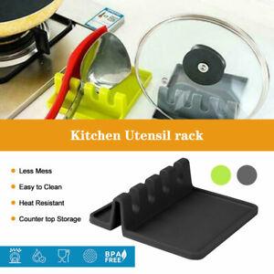 Silicone Utensil Rest Drip Pad Kitchen Utensils Tools Heat-Resistant BPA Free