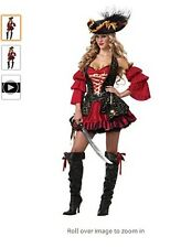 Plus Size Costume Spanish Pirate Sz XXL Dress Hat Sleeves Belt Pouch NEW