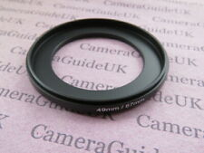 49mm-67mm Male to Male Double Coupling Ring reverse macro Adapter  67mm-49mm