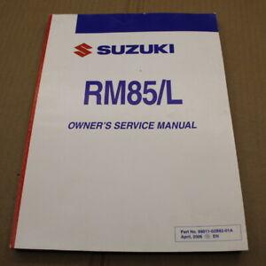 Manual de Taller Suzuki RM 85L 2007 K7 RM85 Manual Taller De Inglés