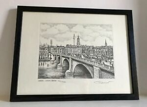 Signed Limited Edition Print of London - London Bridge and the River Thames