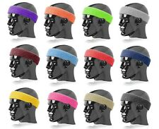 "Terry Headband Sweatband Plain No Logo 2"" Wide New"