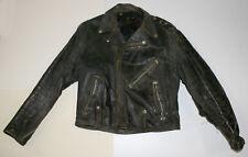Vintage Harley Davidson Black Leather Motorcycle Riding Jacket Distressed Toasty