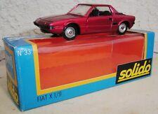 FIAT X 1/9 neuf en boite SOLIDO 1.43e métal VINTAGE