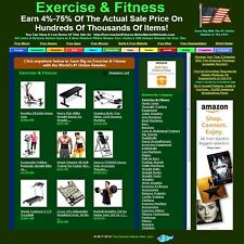 Exercise & Fitness - Affiliate Online Business Website Store For Sale.