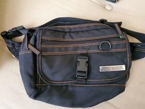 Harley-Davidson Nylon Black w/ Orange Stitching Fanny Pack Waist Belt Bag