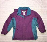 L.L. Bean Kids Vtg Girl's Goose Down Blue Purple Jacket Sz Medium 10 12 GUC #288