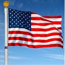 US Telescopic Flag Pole 16ft 3'x5' American Extendable Outdoor Garden Aluminum