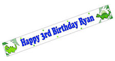 PERSONALISED BANNERS NAME AGE PHOTO BIRTHDAY PARTY Dinosaur 3rd 4th 5th 6th F1