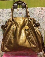 A Very Beautiful Copper Bronze Patent Leather Furla Handbag