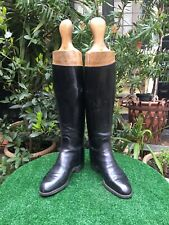 Vintage / Antique Leather English Riding Boots With Wooden Trees