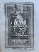1770 Jeremiah Freed by Nebuchadnezzar Biblical Antique Copperplate Print