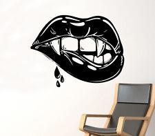 Female Lips Wall Decal Vampire Kiss Vinyl Sticker Sexy Make Up Art Decor 34(nse)