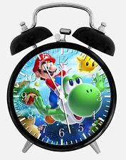 "Super Mario Yoshi Alarm Desk Clock 3.75"" Home or Office Decor W69 Nice For Gift"