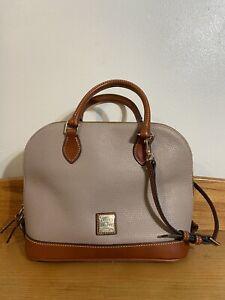 Dooney & Bourke Pebble Grain Leather Zip Zip Satchel Handbag - Grey