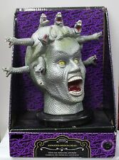 TALKING MEDUSA ANIMATED HEAD Halloween Party Prop Monster Bust Snakes Woman NEW