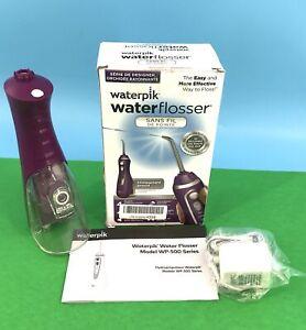 Waterpik Water Flosser Portable Oral irrigator for Travel, Wp 565 Purple #U1031