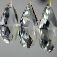 10Pcs Clear Crystal Glass Prism Pendant Drop Chandelier Light Home Decor DIY