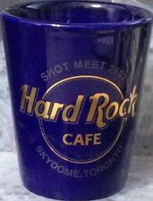 "Hard Rock Cafe SKYDOME TORONTO 2002 2.5"" SHOT GLASS Collector MEET Blue Ceramic"