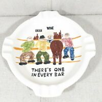 """VINTAGE GLUTZ BEER HORSE'S ASS """"THERE'S ONE IN EVERY BAR"""" ASHTRAY California"""