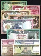 Afghanistan lot de 10 billets différents neufs UNC