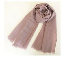 100% Pure Wool 220cm Long Scarf Winter Pashmina Cashmere Shawl Wrap Dusty Pink
