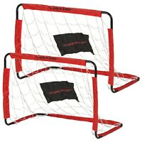 2 Foldable Mini Football Soccer Training Futsal Garden Indoor Outdoor Kids Goals