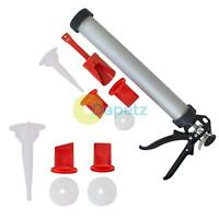 Mortar Pointing Grouting Gun Set Spare Kit 5Pc Heavy Duty 3 Nozzles Die Cast