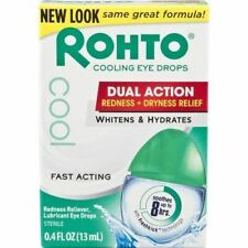 Rohto Cooling Eye Drops, Dual Action Redness + Dryness Relief, 0.4 fl. oz