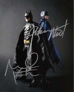 Michael Keaton & Adam West Batman Autographed 8 x 10 Signed Photo reprint