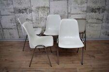 1von10 Sulo Kunstoff Schalensitz weiß Stuhl, Lehnstuhl, Stapelstuhl.