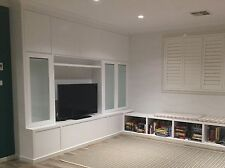 Cherrybrook Build in TV Entertainment Wall Unit Storage Cabinet