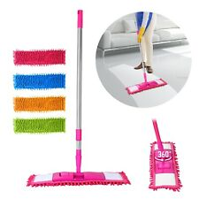 Microfiber Mop Hardwood Floor Dust Hairs Cleaning 360° Washable Refill Pads Kit