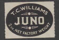 Usa 1950s (-) Black T.C.Williams-Juno- Tobacco Cinderella- rouletted -Muh